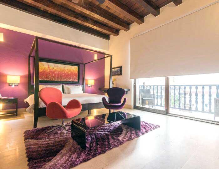 Vista Habitación con terraza en ciudad vieja Cartagena Colombia