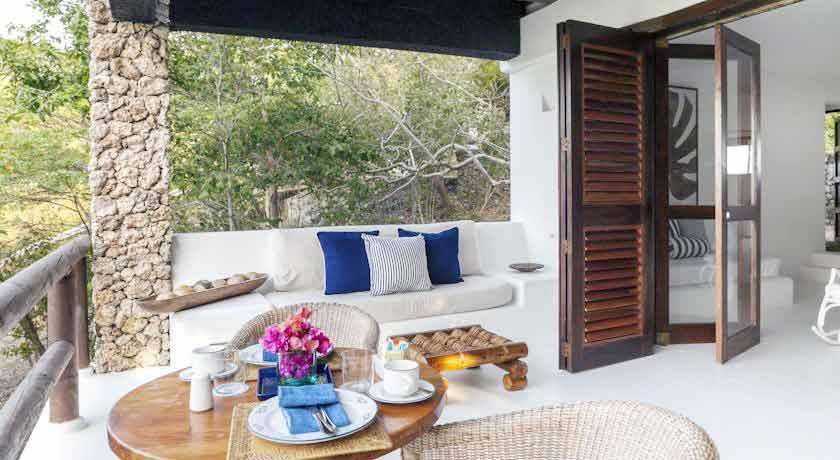 Vista Terraza privada casa en Baru