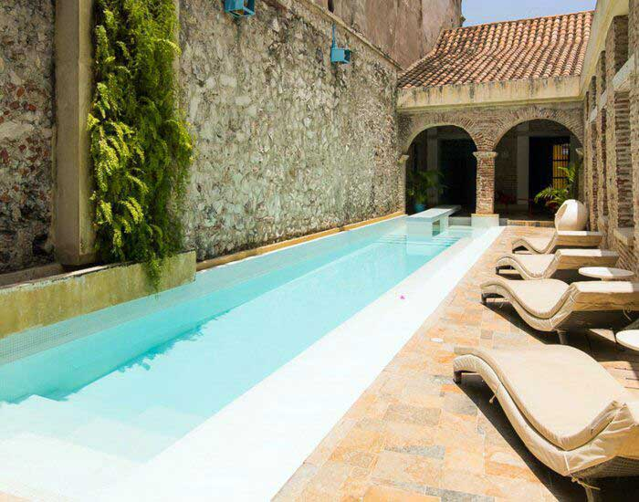 Vista Habitación Casa de lujo Getsemani Colombia