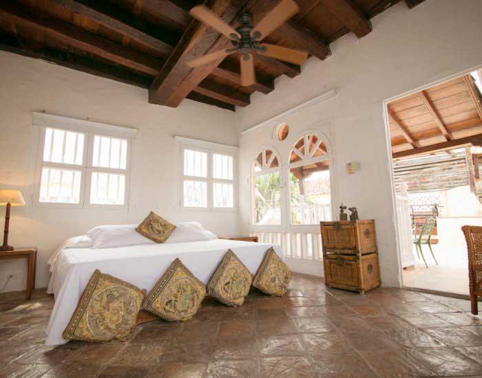 Fachada de casa colonial en Cartagena de Indias