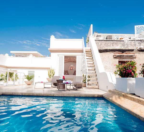Casa Centro Cartagena | Vista Frontal Piscina