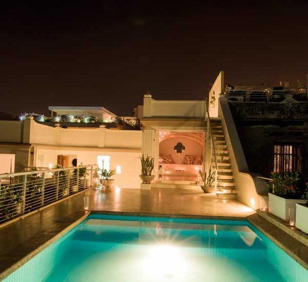 Casa Centro Cartagena | Piscina de Noche