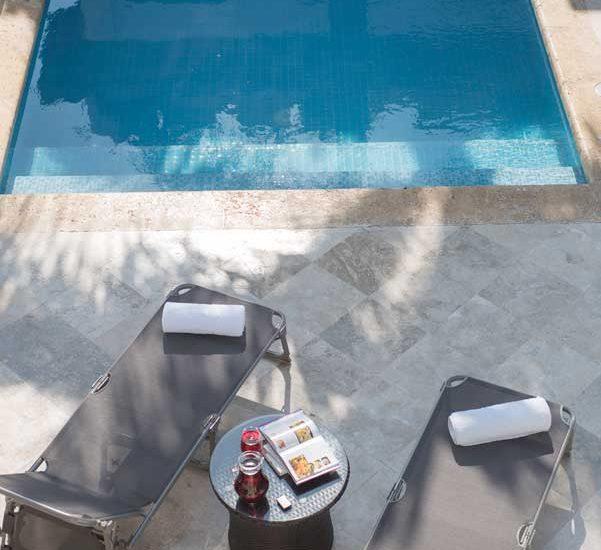 Casa Centro Cartagena | Vista arriba de la piscina