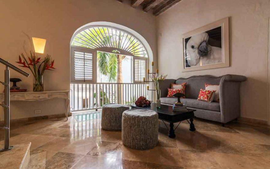 Casa Centro Cartagena | Sala con balcón
