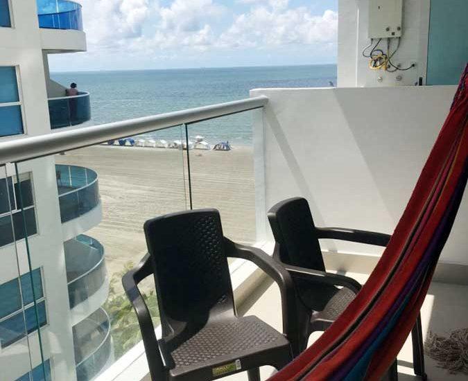 Vista Terraza Apartamento Portovento Cartagena