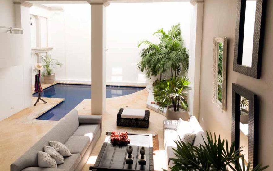 Casa Lujo Cartagena Vista de Sala