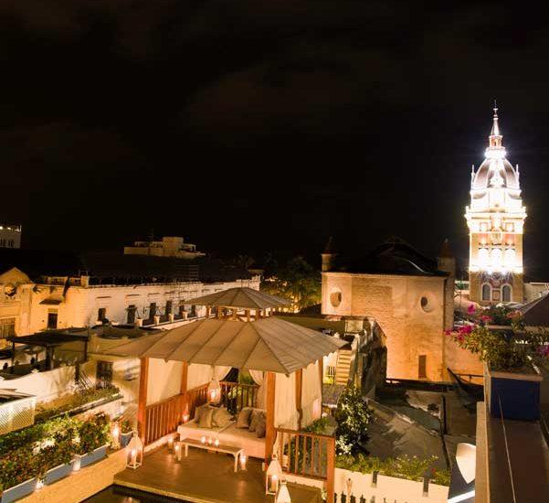 Vista de la Catedral desde casa de lujo en Cartagena