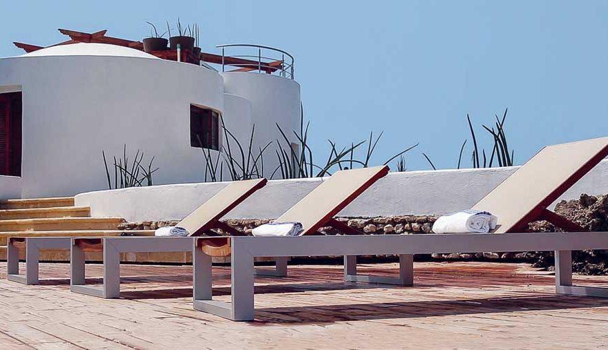 Vista Sillas Solarium Isla en islas del Rosario