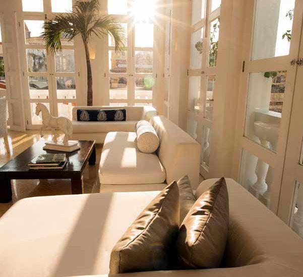 Vista ventanas casa de lujo en cartagena
