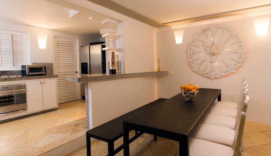 Vista de la cocina de una casa en cartagena