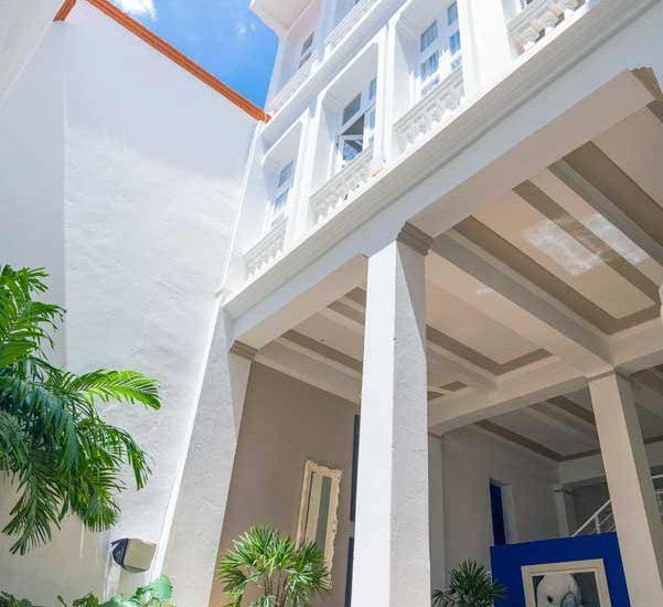 Fachada exterior de casa de lujo en Cartagena