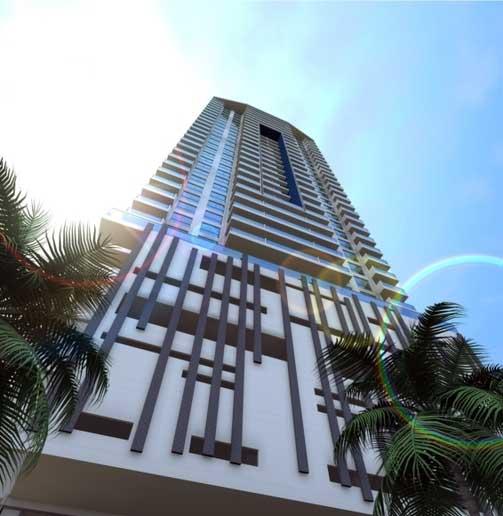 Vista desde abajo del Edificio Palmetto Beach Cartagena de Indias