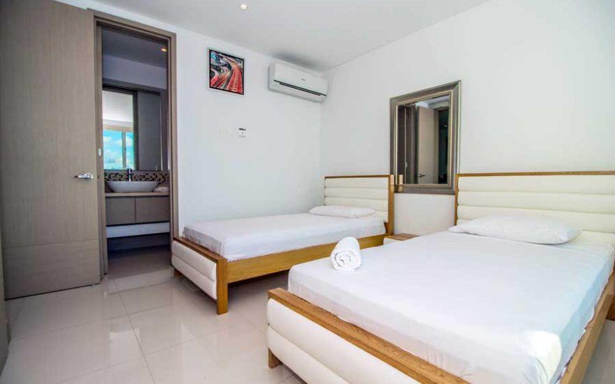 Vista de habitación con baño privado Palmetto Beach Cartagena