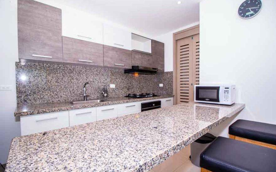 Vista desde la barra de cocina de apto Palmetto Beach Cartagena de Indias
