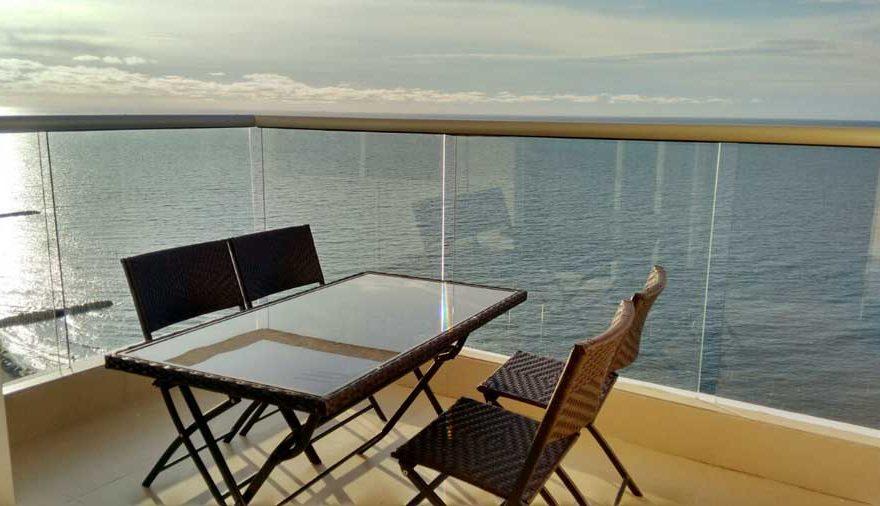 Vista del mar desde el balcón Palmetto Beach Cartagena