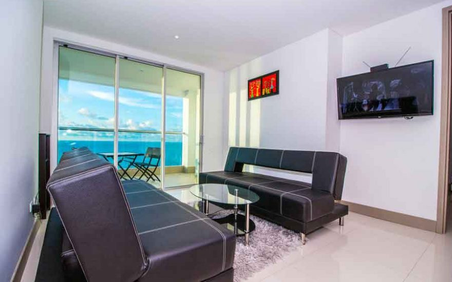 Sala apartamento Palmetto Beach Cartagena de Indias
