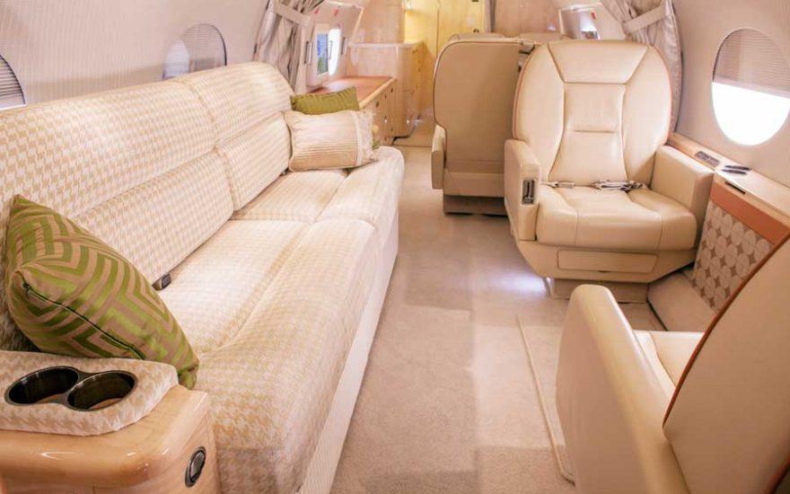Interior avión de lujo Cartagena de Indias