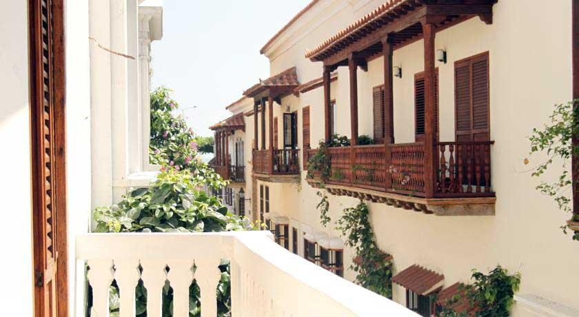 Vistas desde balcón casa centro histórico cartagena