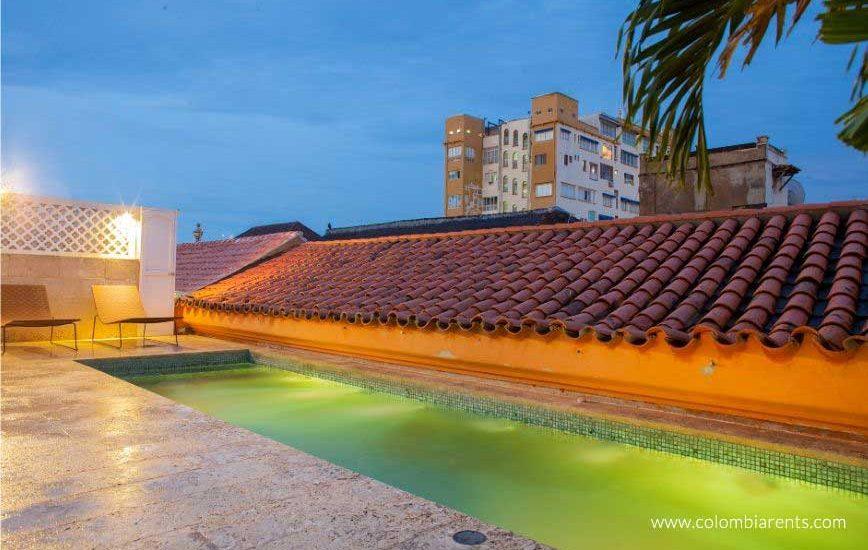 Sala tipo museo Mansión en Cartagena