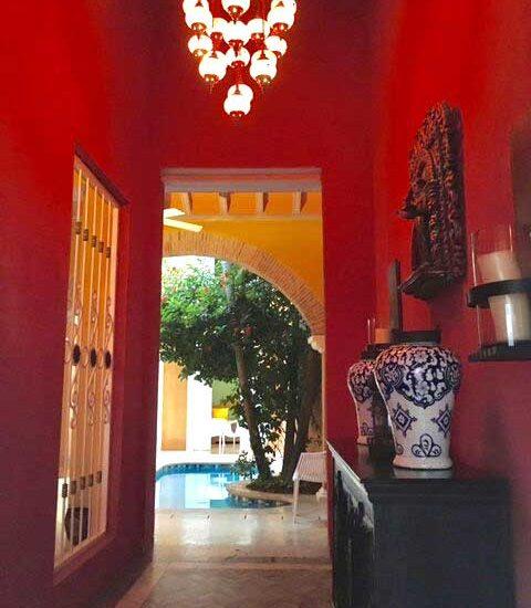 Hall Casa Colonial Cartagena