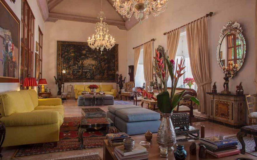 Vista Sala de Casa lujosa en Cartagena de Indias