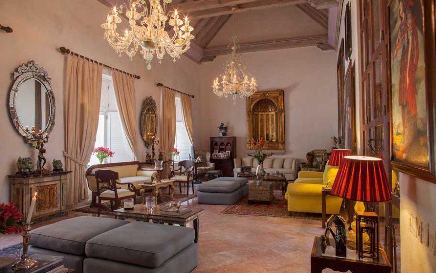 Vista Sala Casa Colonial Cartagena