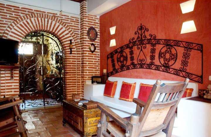 Vista sala estar casa de lujo cartagena