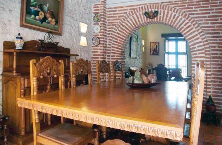 Sala comedor en Casa Cartagena Colombia