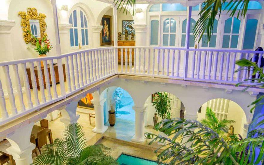 Patio Casa Colonial de lujo Cartagena de Indias