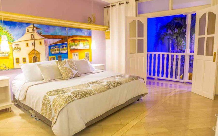 Sala Casa de lujo en Cartagena Colombia