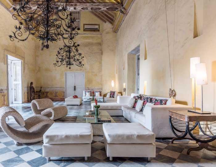 Piscina en Casa Colonial Cartagena