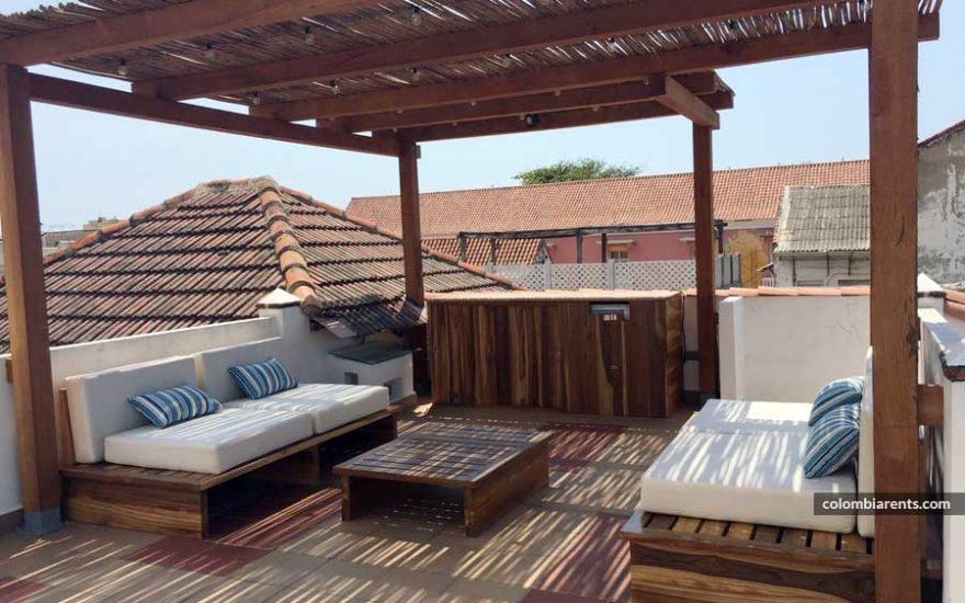 Terraza Solarium Casa Cartagena de Indias