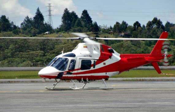 Interior helicóptero en Bogotá Colombia