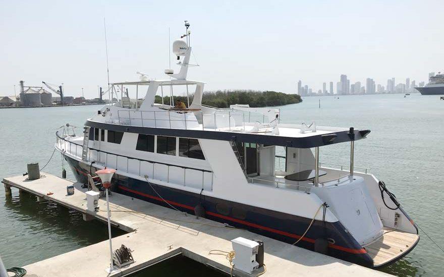 Barco en alquiler en Cartagena Colombia