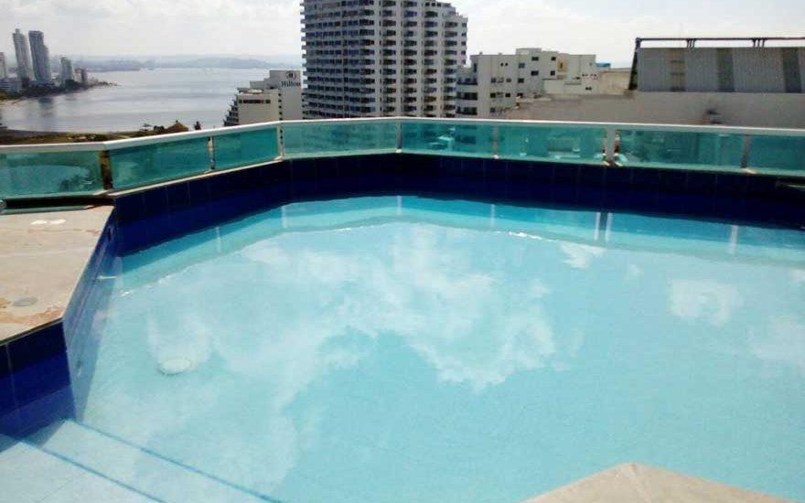 Piscina Panoramica | Apto de lujo El Laguito Cartagena
