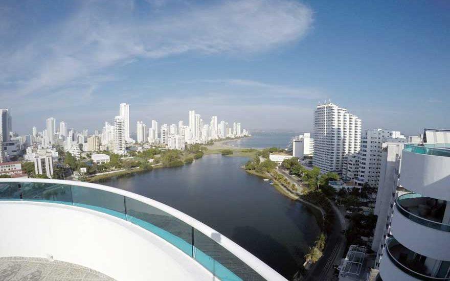 Vista desde Penthouse el Laguito Cartagena