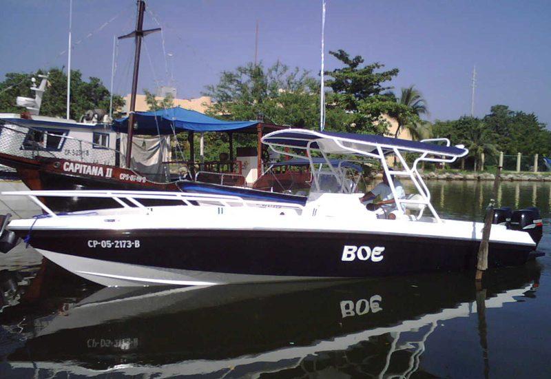 Boat in Cartagena de Indias   exterior view