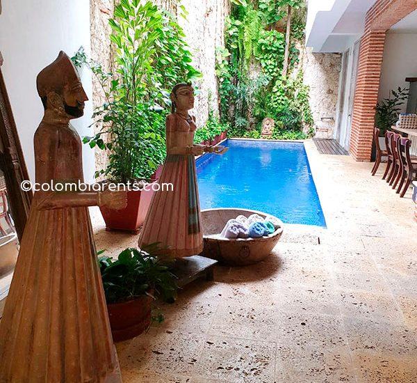 Piscina Casa de Lujo en Cartagena Colombia